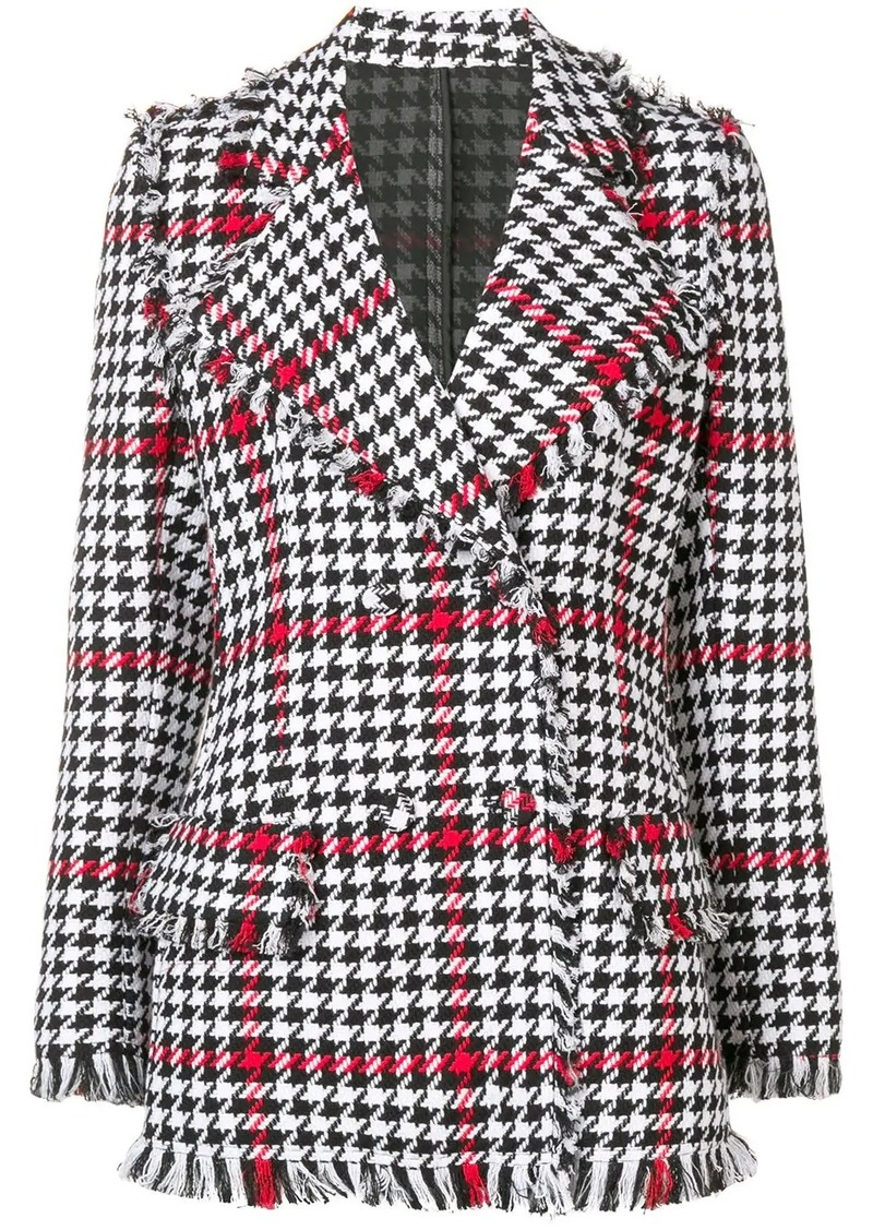 MSGM regular fit houndstooth jacket