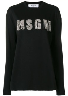 MSGM rhinestone logo top