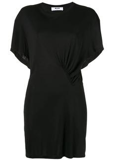 MSGM ruched detail mini dress
