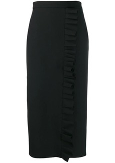 MSGM ruched midi skirt