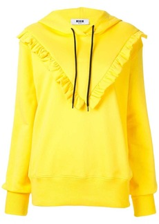 MSGM ruffle detail hoodie