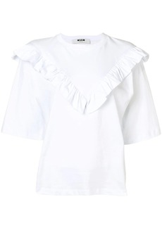 MSGM ruffle detail T-shirt