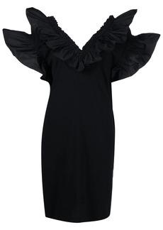 MSGM ruffle-neck mini dress