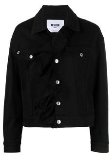 MSGM ruffle-trim denim jacket
