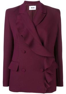 MSGM ruffle wrap coat