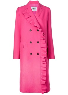 MSGM ruffled double-breasted coat