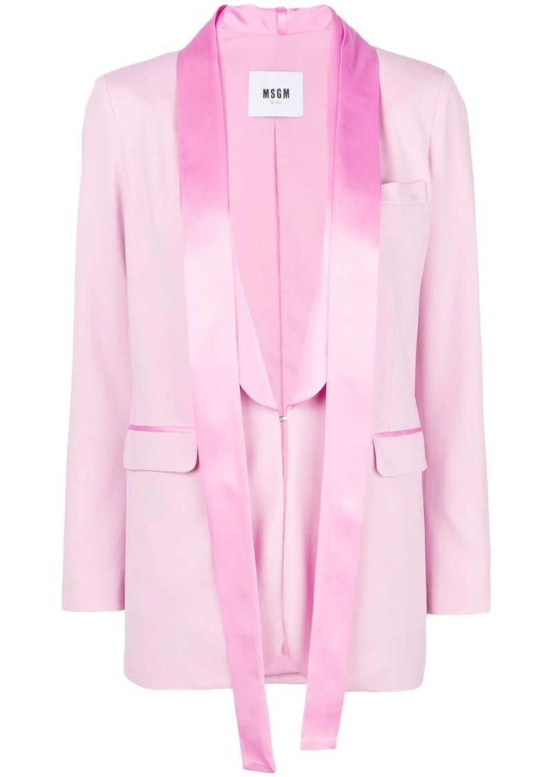 MSGM satin trim blazer