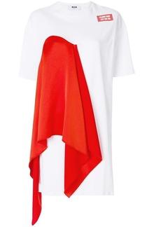 MSGM scarf detail T-shirt dress