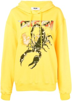 MSGM scorpion print hoodie