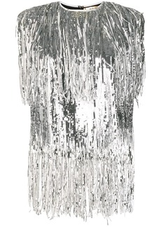 MSGM sequin fringed top