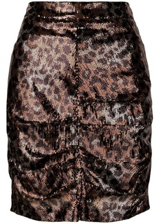 MSGM sequin leopard skirt