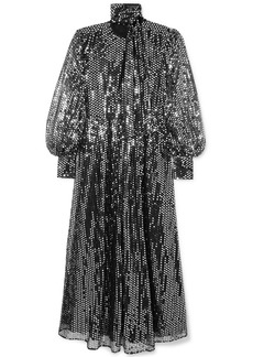 MSGM Sequined Chiffon Maxi Dress