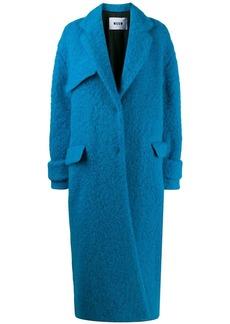 MSGM single-breasted oversized coat