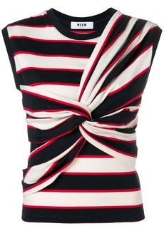 MSGM sleeveless knotted top