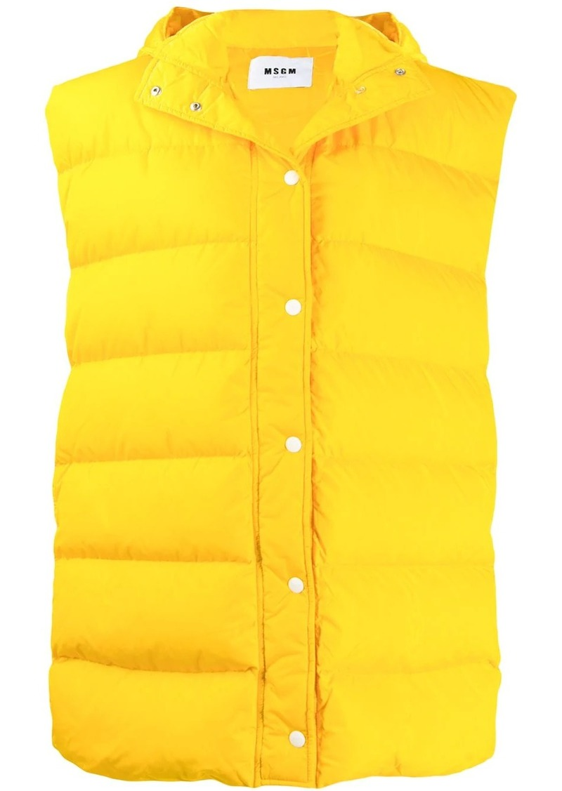 MSGM sleeveless puffer jacket