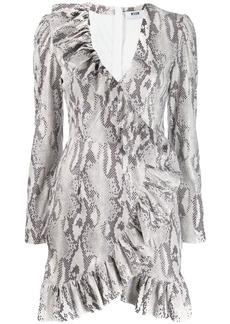 MSGM snakeskin print dress