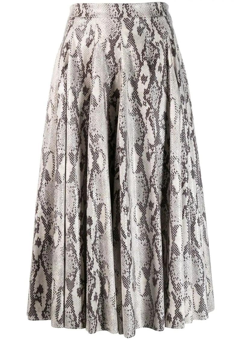 MSGM snakeskin print skirt