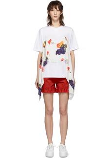 MSGM SSENSE Exclusive White Fruit Scarf T-Shirt
