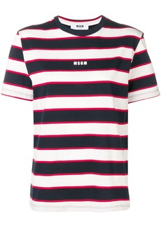 MSGM striped logo T-shirt