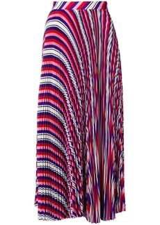 MSGM striped pleated skirt