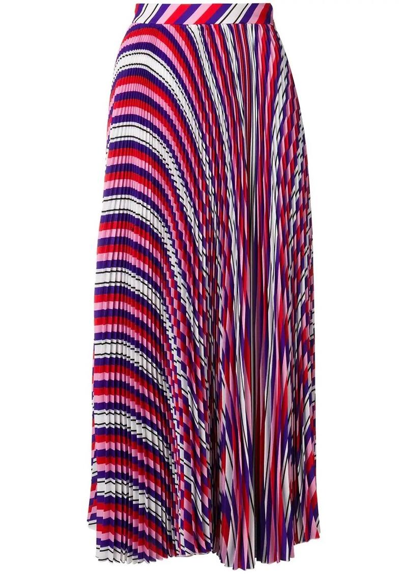 MSGM striped pleated skirt