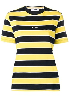 MSGM striped short-sleeve T-shirt