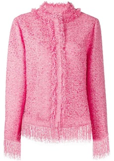 MSGM tweed fringe jacket