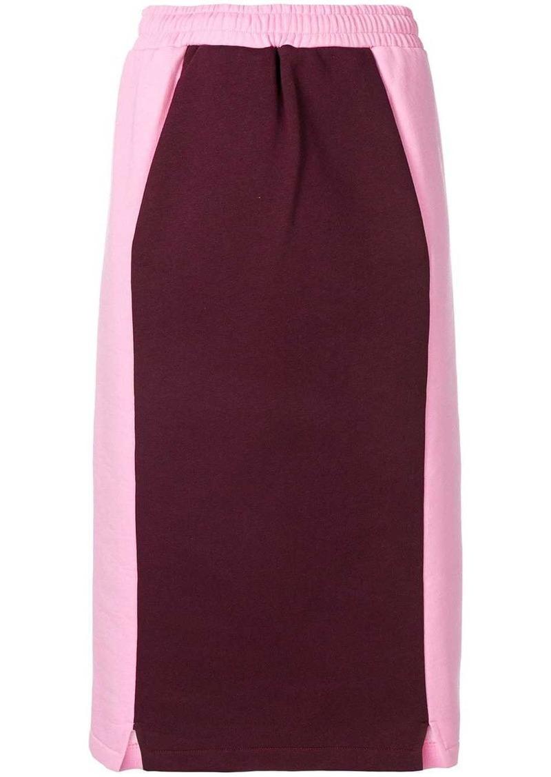 MSGM two-tone pencil skirt