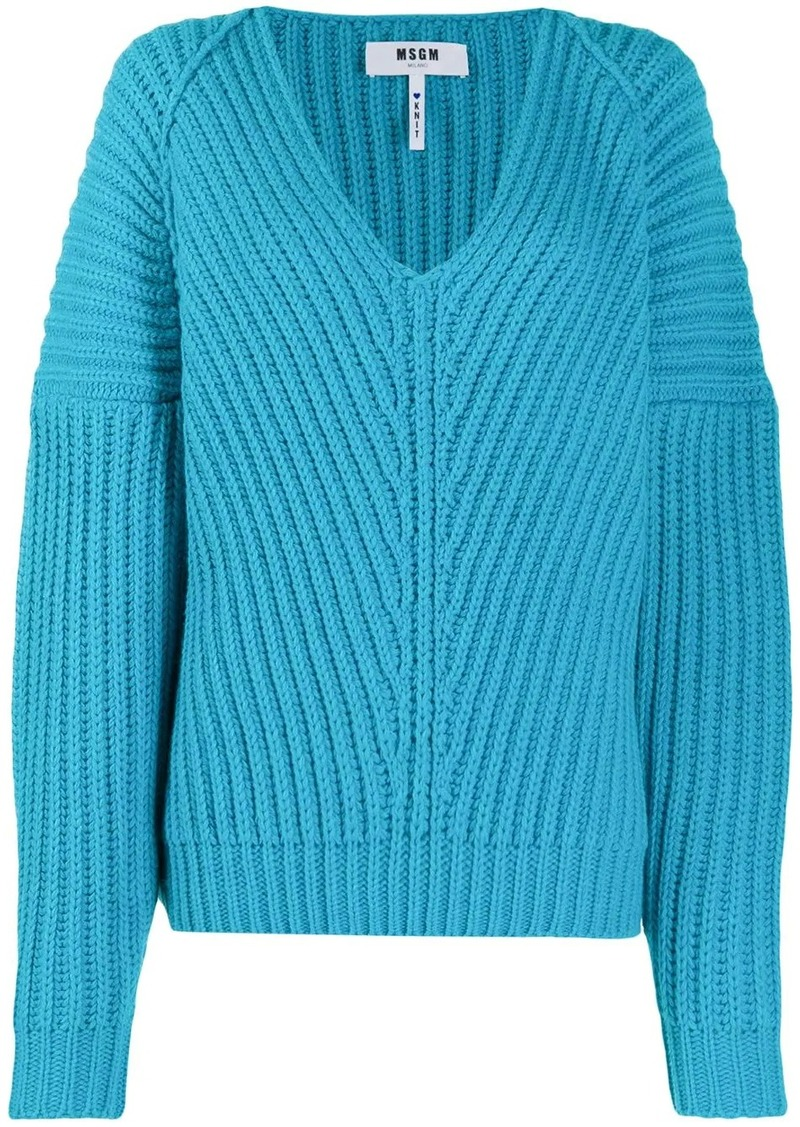 MSGM v-neck knitted jumper