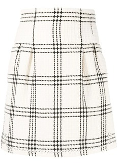 MSGM waffle tweed mini skirt