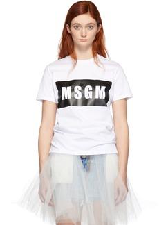MSGM White Box Logo T-Shirt