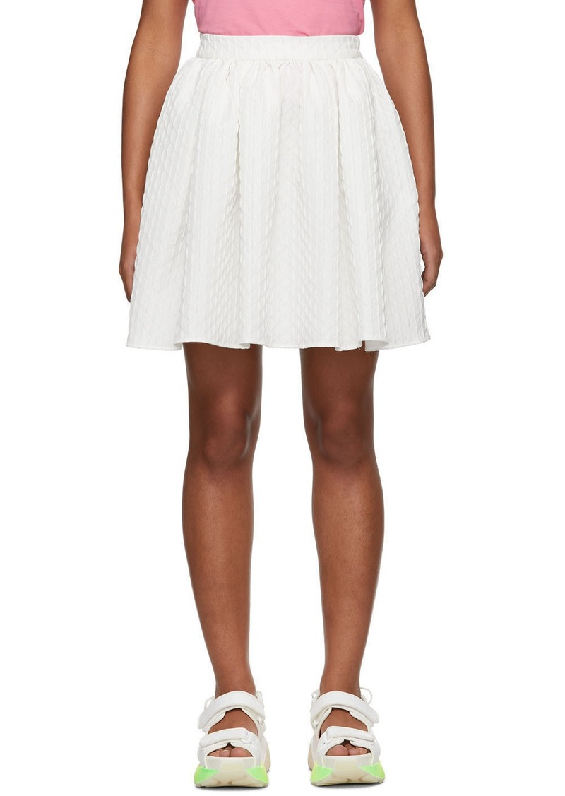 MSGM White Pleated Miniskirt