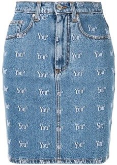 MSGM Youth denim skirt