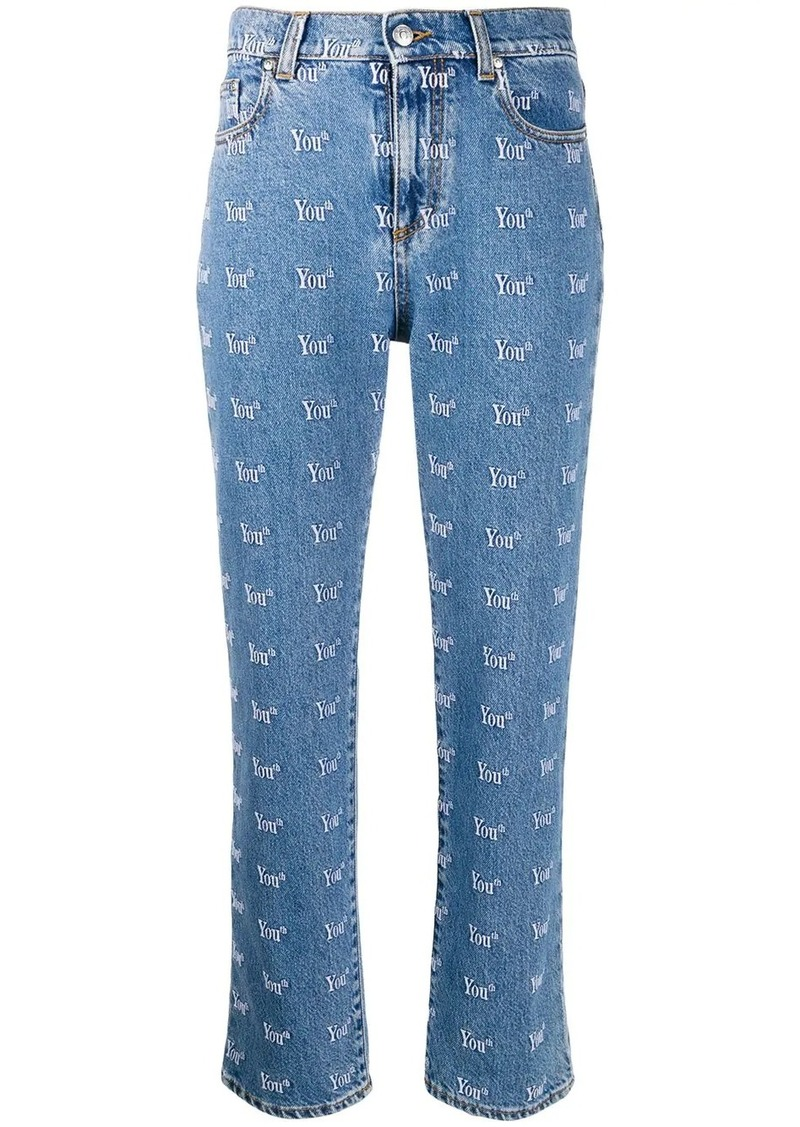 MSGM Youth slim-fit jeans