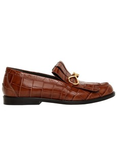 Mulberry 20mm Fringed Croc Embossed Loafers