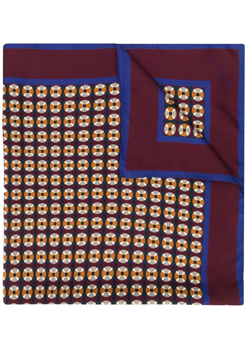 Mulberry geometric-print silk scarf