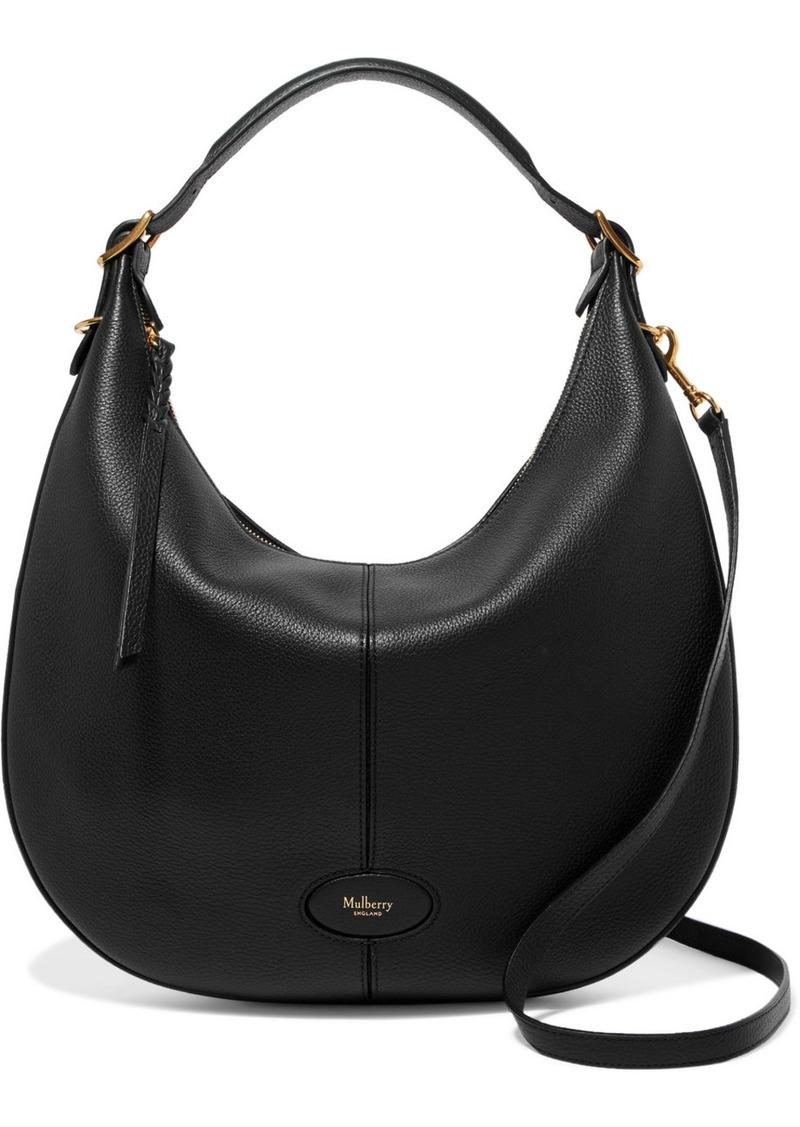 Mulberry Hobo Textured Leather Shoulder Bag