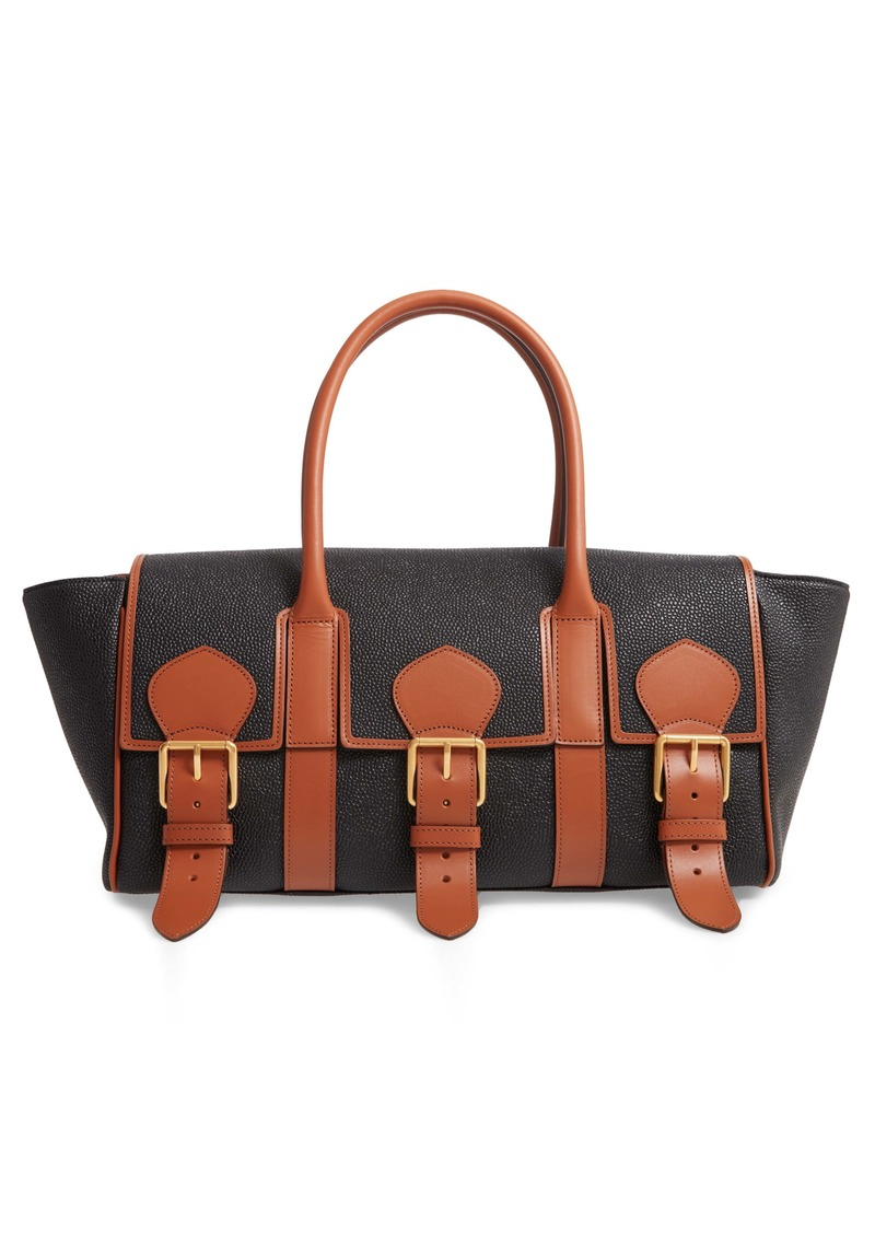 Mulberry & Acne Studios Bayswater Scotchgrain Faux Leather Satchel