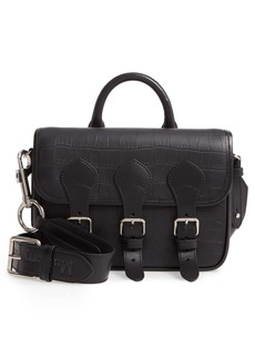 Mulberry & Acne Studios Matte Crocodile Embossed Leather Messenger Bag