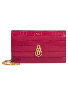 Mulberry Amberley Croc Embossed Leather Clutch