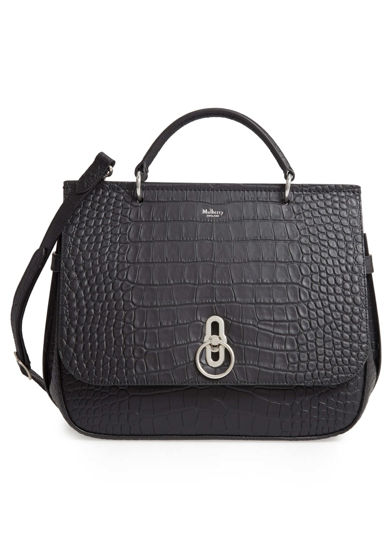 Mulberry Amberley Croc Embossed Leather Satchel