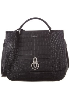 Mulberry Amberley Croc-Embossed Leather Satchel
