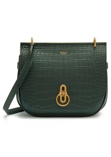 Mulberry Amberley Croc Embossed Leather Shoulder Bag
