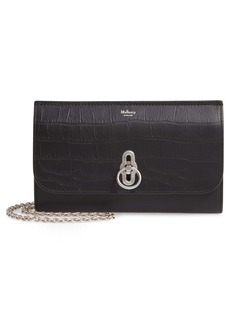 Mulberry Amberley Matte Croc Embossed Leather Clutch