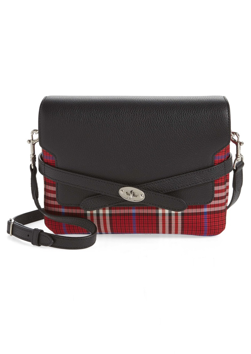Mulberry Bayswater Leather & Plaid Crossbody Bag