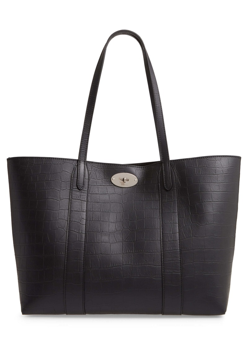Mulberry Bayswater Matte Croc Embossed Leather Tote & Pouch