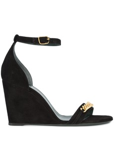 Mulberry chainlink wedge sandals - Black