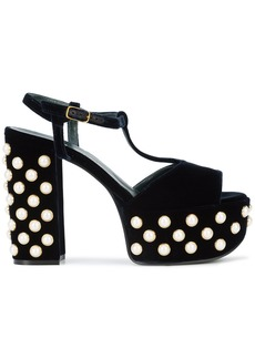 Mulberry embellished platform sandals - Blue