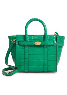 Mulberry Micro Bayswater Croc Embossed Leather Satchel