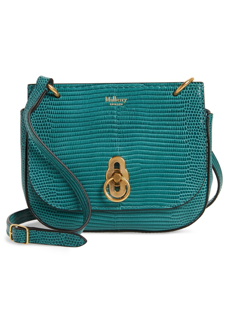 4c92e51ae5 Mulberry Mulberry Mini Amberley Reptile Embossed Leather Crossbody ...